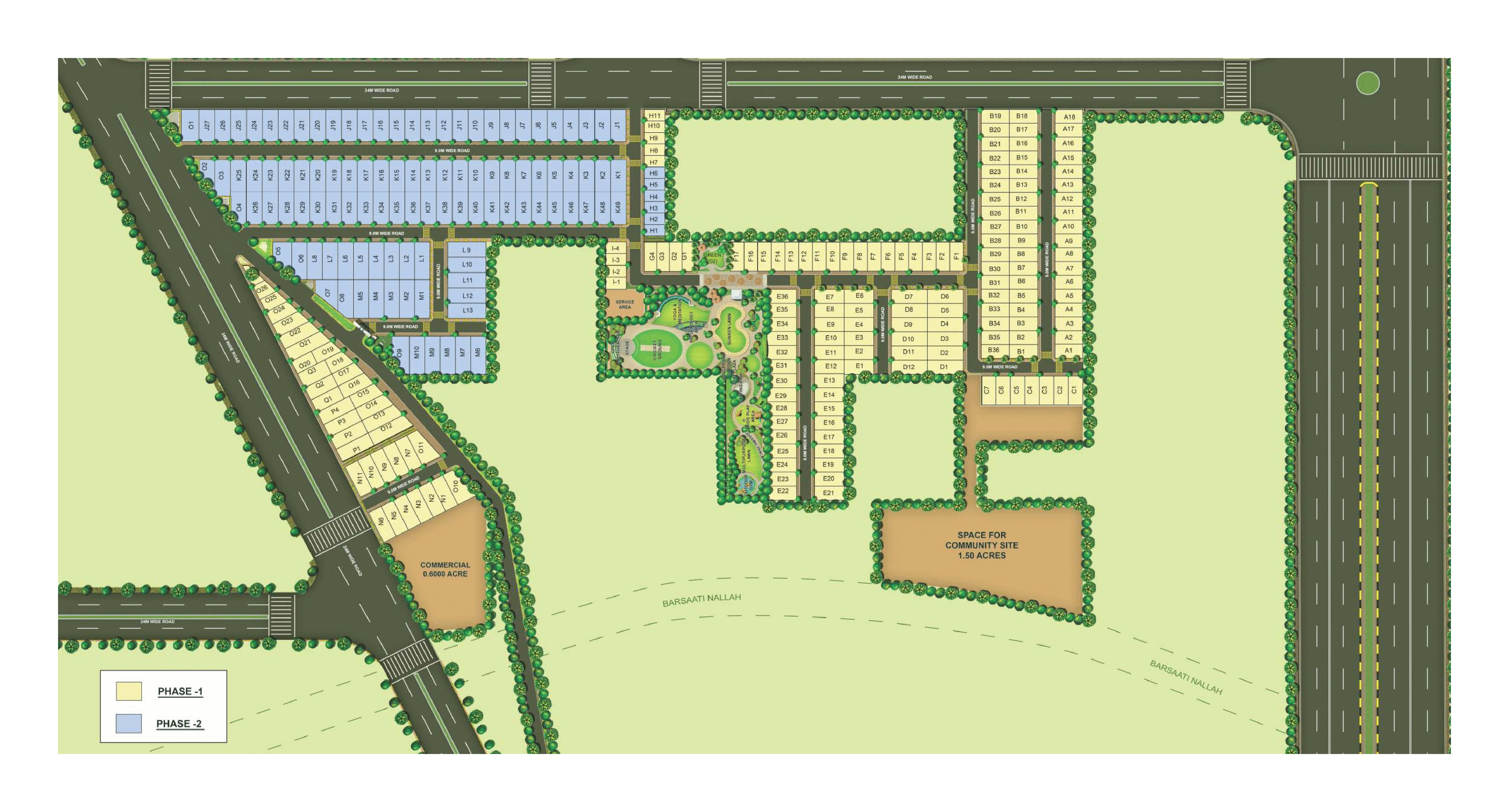Paras Ekam Homes Site Plan